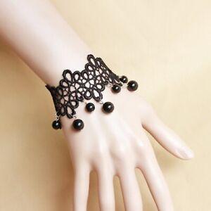 Fashion-Jewelry-Noble-Vintage-Jewelry-Sexy-Lace-Ladies-Black-Bracelet-Gift