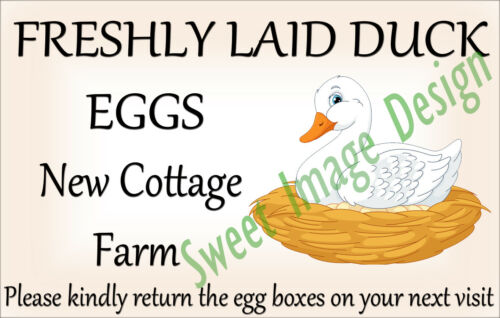21x PERSONALISED Egg box STICKERS Chicken Hen Duck Egg Box LABELS Poultry