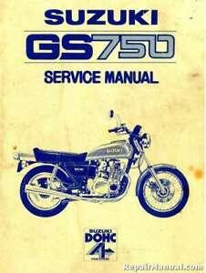 Suzuki Gs 750 Motorcycle Service Manual 1977 1978 Repair Ebay