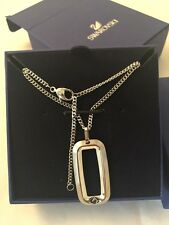 100% Genuine Swarovski Jet Hem/Mix Pendant Necklace Silver 50cm RRP£80