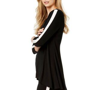 ALFANI-NEW-Women-039-s-Side-Striped-High-low-Tunic-Shirt-Top-TEDO