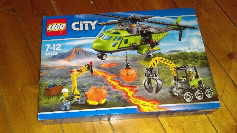 LEGO 60123 L'hélicoptère d'approvisionnement du volcan- NEUF ET SCELLE