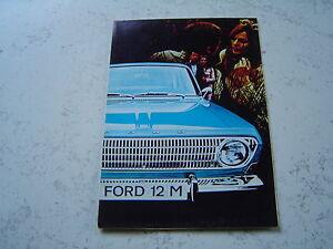 Catalogue-publicitaire-Ford-Taunus-12M-Coupe-break-16-pages-brochure-prospectus
