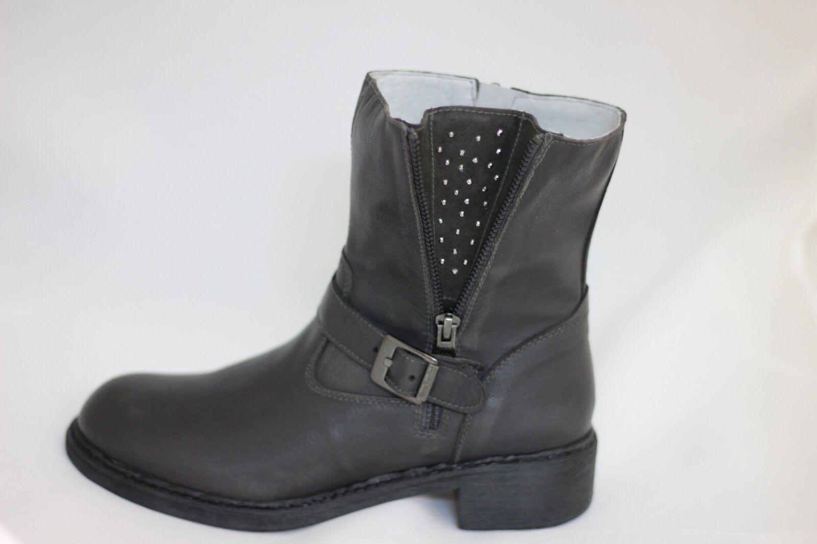 NERO GIARDINI Stivale tronchetto scarpa pelle donna grigio piombo 531150 36 37