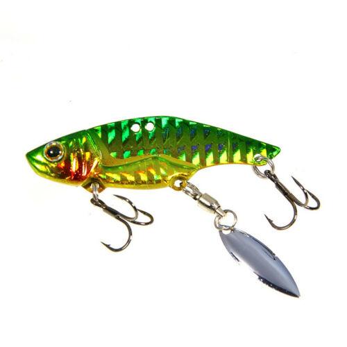 Swimming Fishing Hard Bait Crankbaits 3D Eyes Rotating Tackle 8 Colors