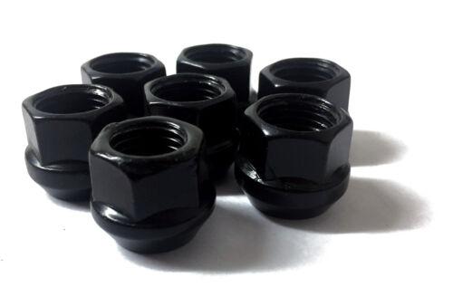 20 piccole poco profonde SLIM Aperto Ruota Spacer Nuts 17 mm Hex Nero 1//2 UNF