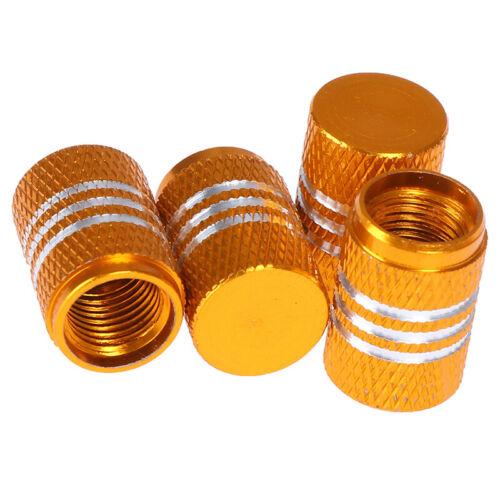 4Pcs Aluminium car wheel tyre valve stems air dust cover screw cap 8 col~SV