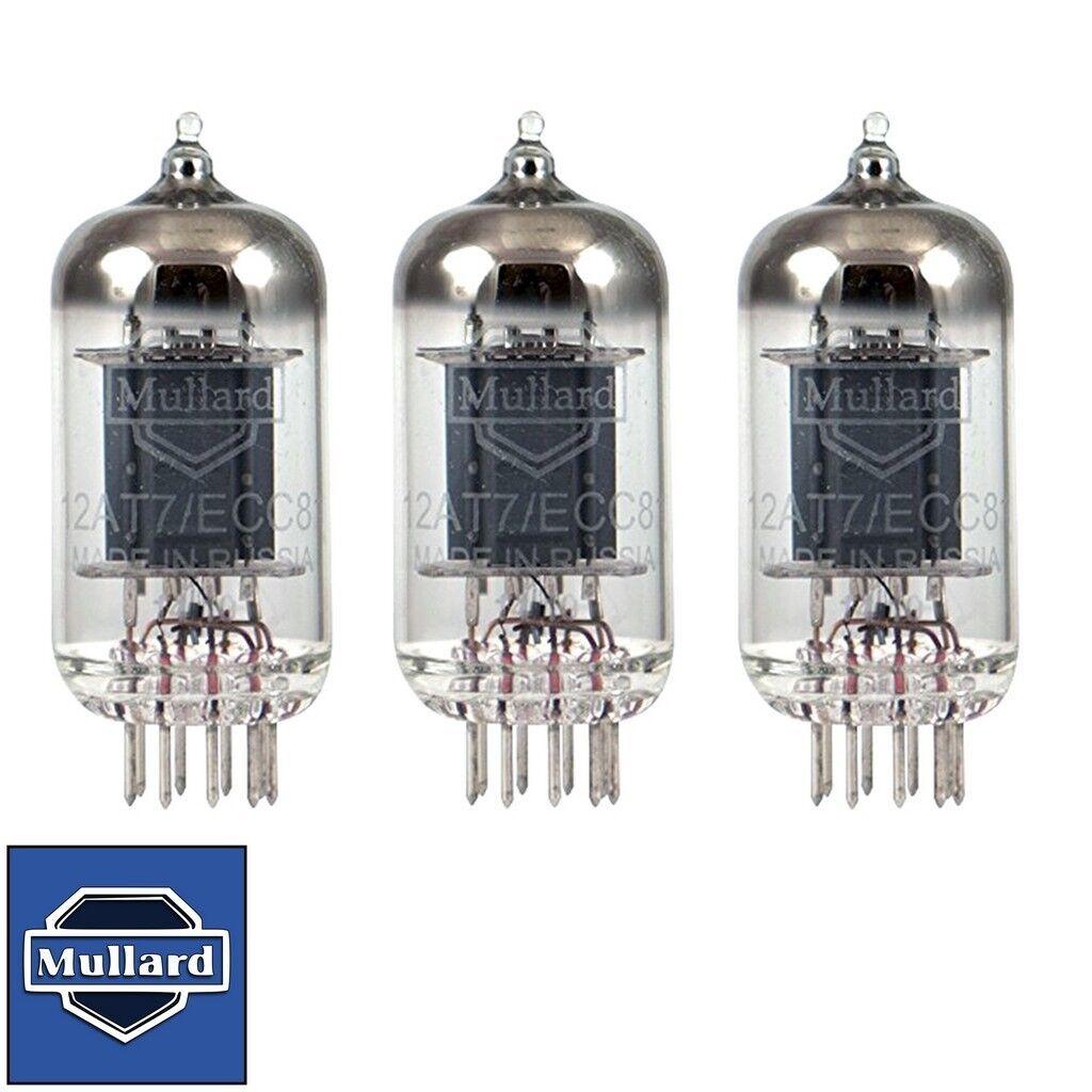 Brand New Gain Match Trio (3) Mullard Reisue ECC81 12AT7 Vacuum Tubes