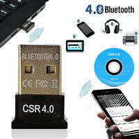 USB Bluetooth V4.0 CSR Wireless Mini Dongle Adapter For Windows 7 8 10 PC Laptop