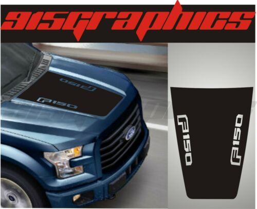 Vinyl Hood Decal Compatible with Ford F 150 2015-2020 Blackout Cutout Graphic