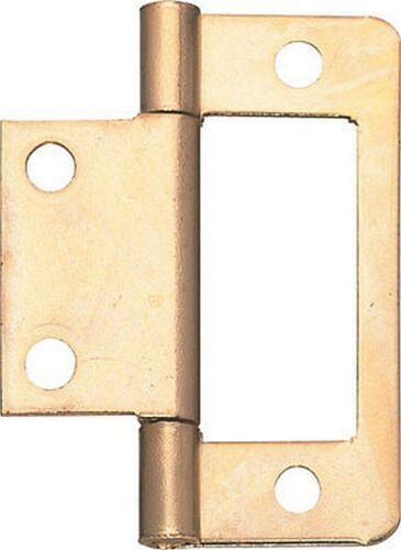 finish choice Pack of 4  NEW FLUSH CUPBOARD HINGES 50MM Cabinet Furniture Flat