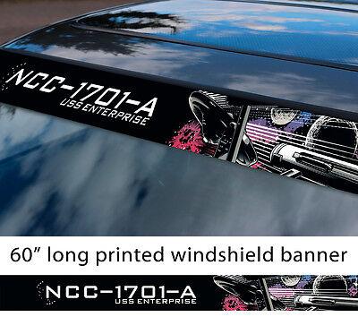 Vinyl Decal Sticker for Laptop Macbook or Car Star Trek Enterprise Trek Fish