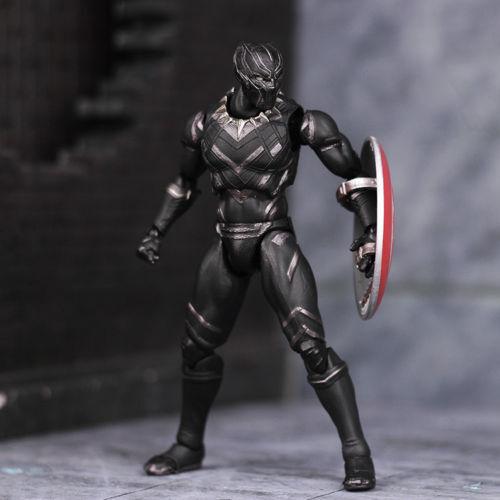 S.H.Figuarts Marvel Captain America Civil War Black Panther Action Figures