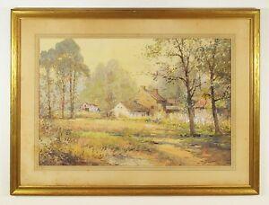 Joseph-C-Claghorn-American-1869-1947-Original-Watercolor-Painting-Signed