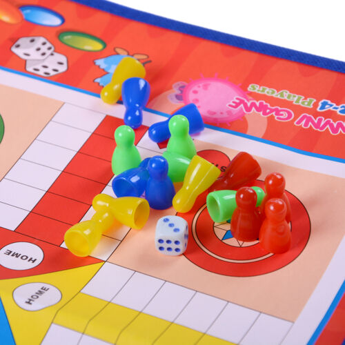 Non-woven Fabrics Foldable Ludo Snake Chess Board Game Family Game SP