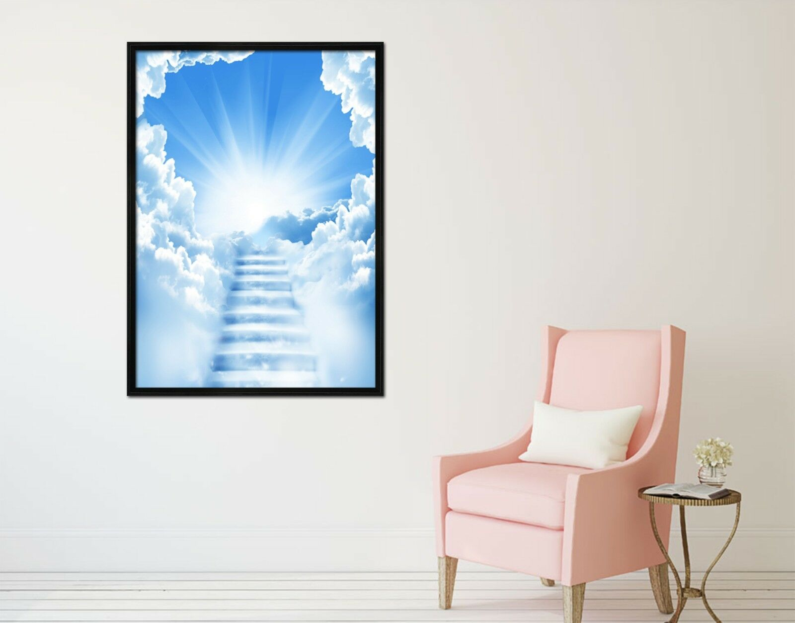3D Sky Ladder 565 Fake Framed Poster Home Decor Print Painting Unique Art