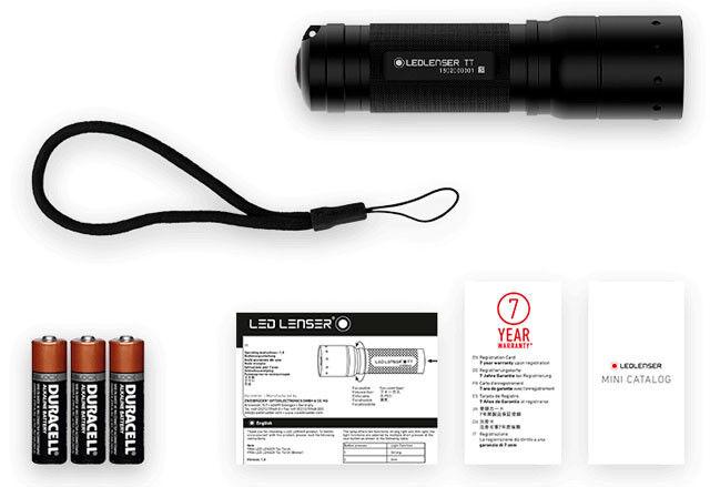 KQ LED LENSER TT Taschenlampe Tactical Taktische 9804 mit mit mit Fokus 280 Lumen    Düsseldorf Online Shop  60938f