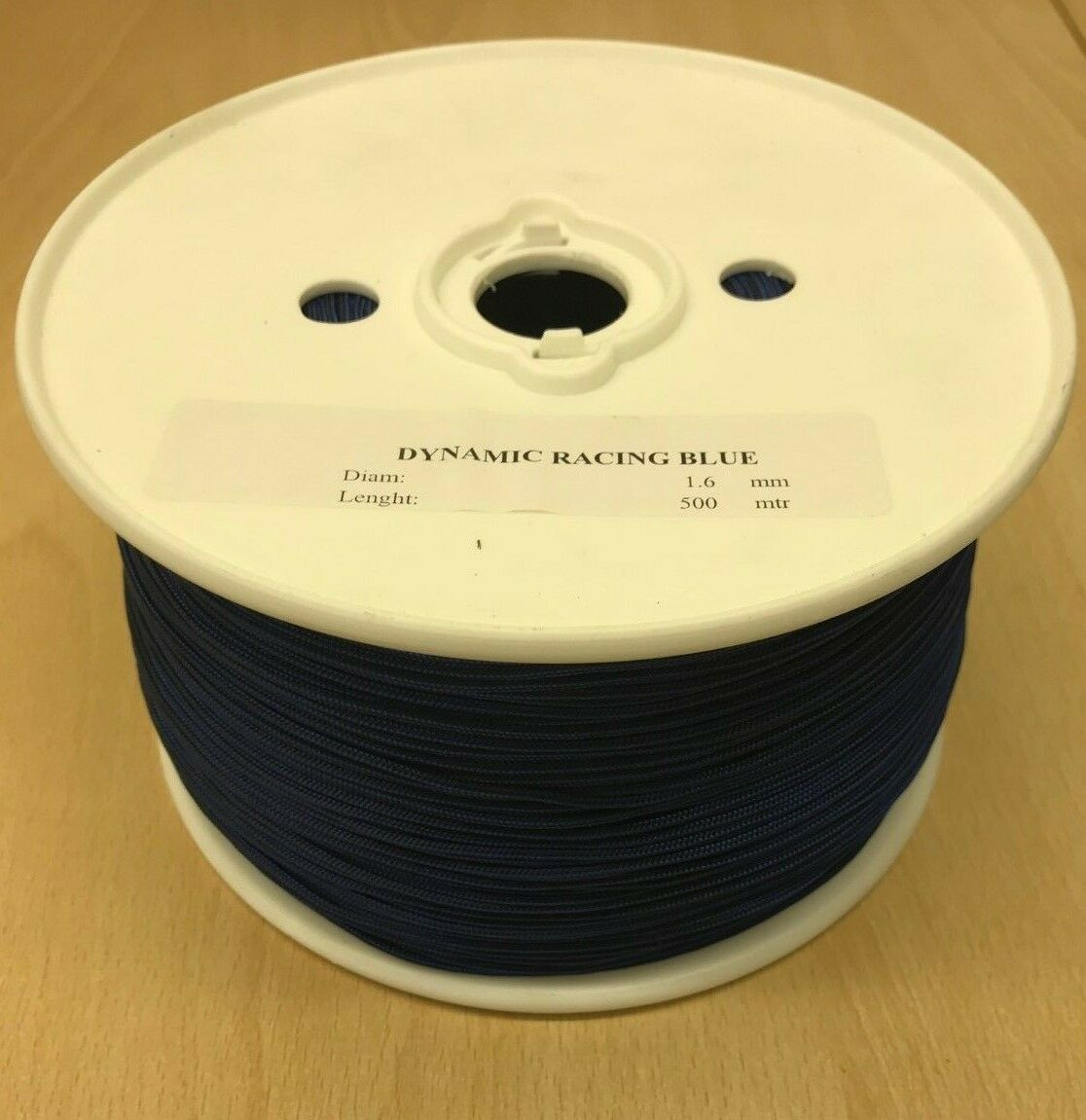 1.6mm Kite Line Dyneema Rope, Polyester Cover, Komplett 500m Reel
