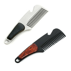 Practical-Beard-Comb-Mens-Shaving-Pocket-Comb-Portable-Male-Alloy-Mustache-Brush