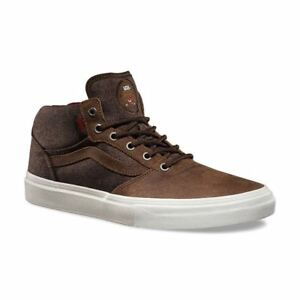 VANS Gilbert Crockett Pro Mid (Twill) Brown Skate Shoes MEN S 7 ... 8802b53290
