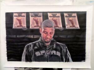 Huge-Tim-Duncan-San-Antonio-Spurs-oil-painting-on-canvas-by-J-Blah