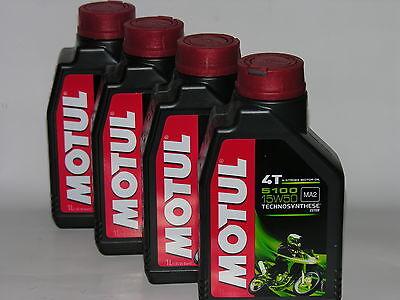 4 LT. OLIO motore moto MOTUL 5100 15W50 Technosynthese Sintetico NEW 4 TEMPI