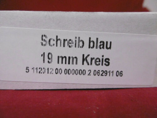 100 Blatt-Haftetiketten Blau 19mm Kreis NEU OVP ca