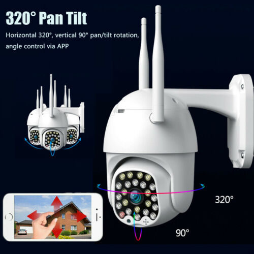 5MP HD IP CCTV Camera Waterproof Outdoor WiFi PTZ Security Wireless IR 23 LED