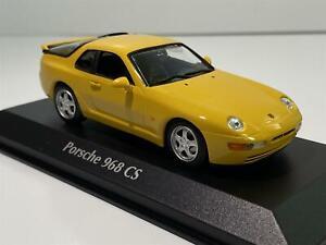 Porsche 968 CS 1993 amarillo maqueta de coche 1:43 maxichamps