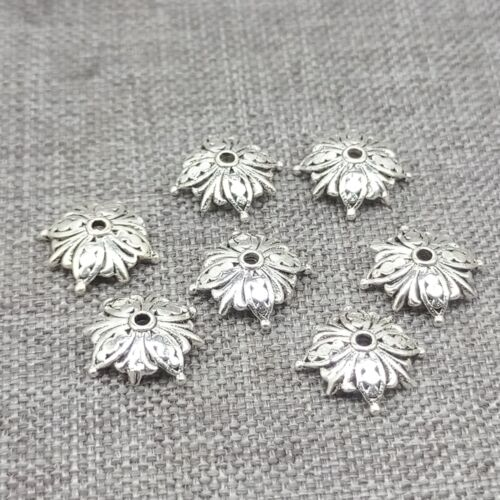 925 Sterling Silver Butterfly Bead Caps Clover Leaf Bracelet Spacer 8mm 10mm