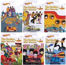 Hot Wheels 2016 The Beatles Yellow Submarine Complete Set of 6 Kombi HTF +3 1:64