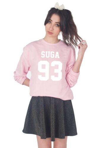 Suga 93 Sweater Top Jumper Sweatshirt Kpop Fangirl Jungkook RapMon J-Hope