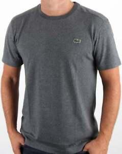 4ee389da Caricamento dell'immagine in corso LACOSTE-T-shirt-in-Pitch -Grigio-a-Maniche-