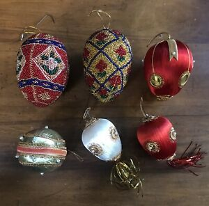 Vintage Christmas Ornament Lot of 6