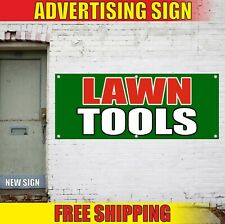 Lawn Tools Banner Advertising Vinyl Sign Flag Shop Store Service Repair Open Now