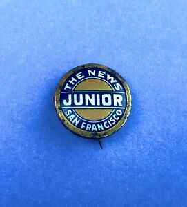Rare-Vintage-The-News-San-Francisco-JUNIOR-Mini-Pin-Button