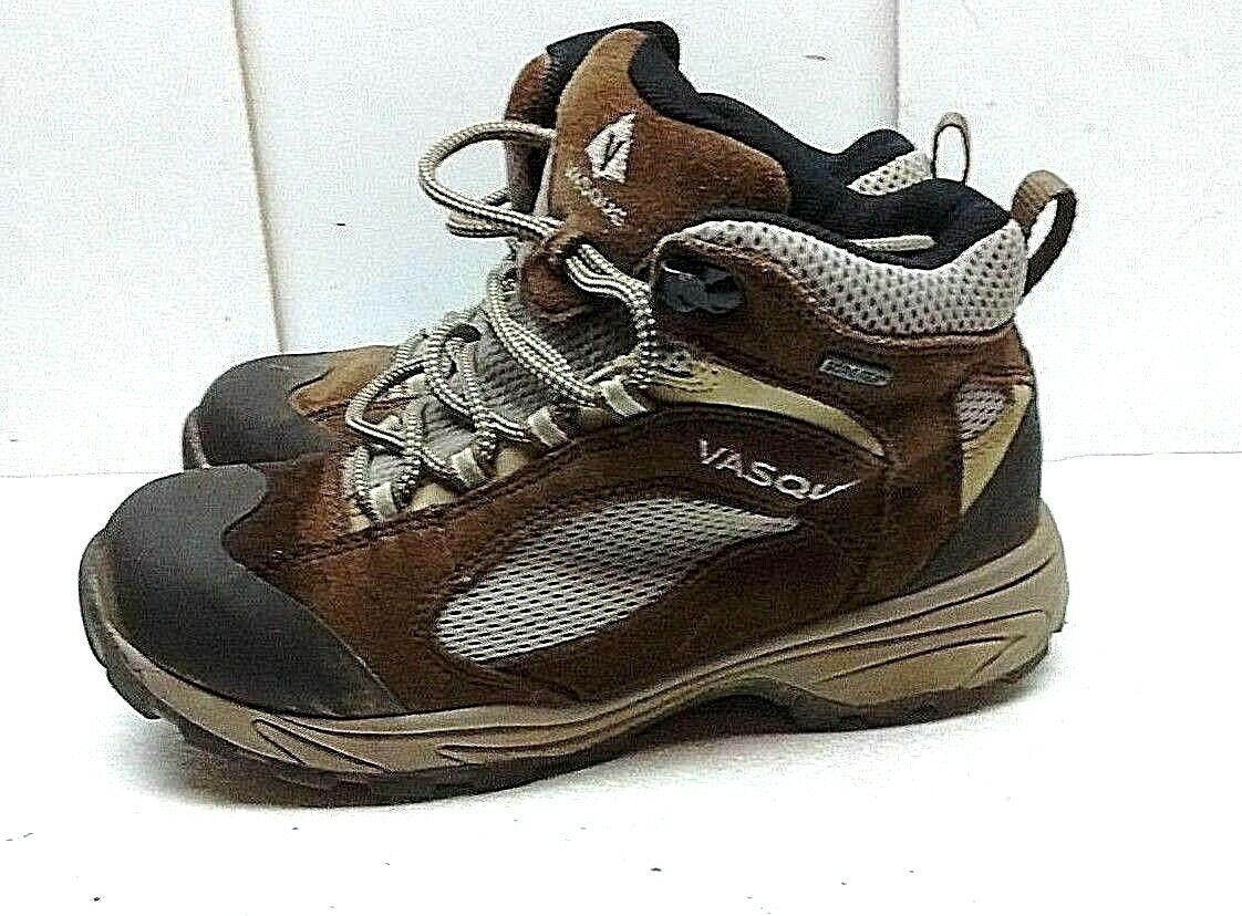 Vasque Gore Tex Brown Leather Mesh Ankle Up Hiking Womenu0027s Shoes 7.5M Lace  Boots Nifbgy6017 Womenu0027s Boots