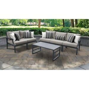 Tk Classics Lexington 6 Piece Aluminum Patio Furniture Set 06m In