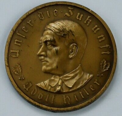 WW2 Exonumia Medal 1933 Adolf Hitler Germany