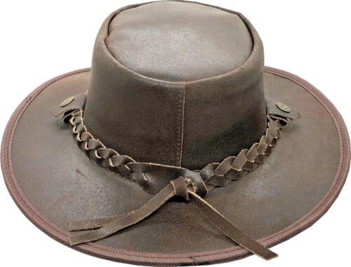 Cuir Chapeau Australien Cowboy Western Bush Style Outback homme femme 100/% SUMMER