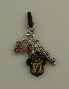 Disney-Minnie-Mouse-bow-charm-cell-phone-fits-ipad-ear-cap-dust-plug