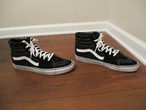 Usado Usado Talla 13 Vans Sk8 Hi Skate Zapatos Negro Y ...