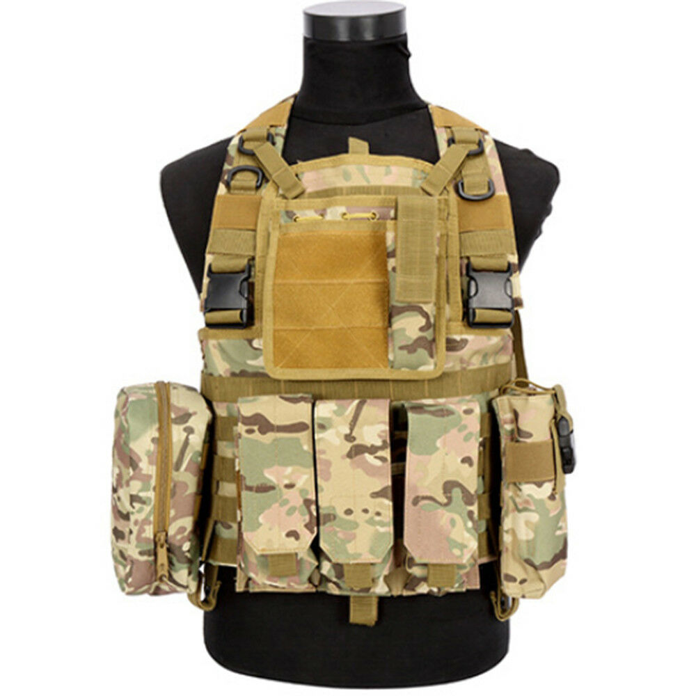 Tactical Vest CS Airsoft Hunting Special Combat Holster Pouch