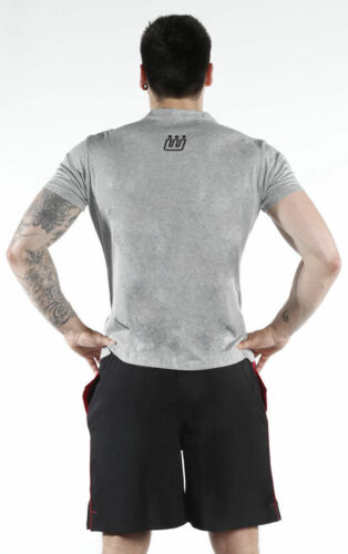 Fitwise Men/'s Half Sleeve T-Shirts Regular Fit Fashion Wear Cotton Gym Tops Grey