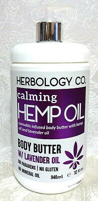 Herbology Co  Hemp Oil BODY BUTTER w/ LAVENDER & Olive Oils + Shea Butter  32 oz   eBay