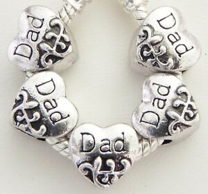 5-Dad-Designed-Heart-Spacer-Charms-European-Style-10-10-mm-and-5-mm-Hole-S016