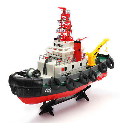 2.4Ghz Radio Remote Control Electric Seaport Tug Boat RC Working Boat R//C RTR
