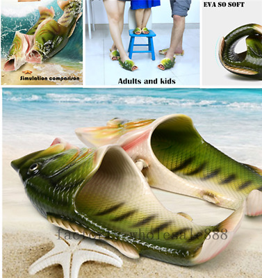 Unisex Strange Fish Style Beach Slippers Breathable Summer Sandals Gift Y2