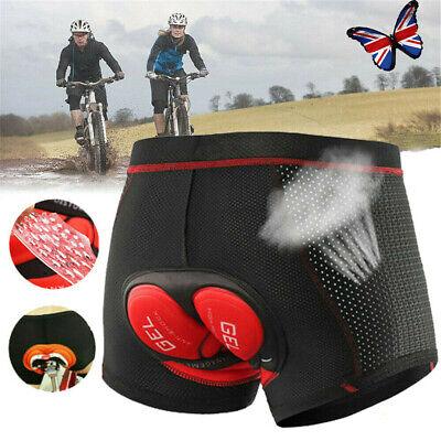 5D Gel Padded Cycling Short Underwear Mountain MTB Biking Pants Breathable UK