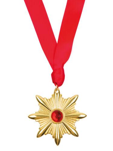Dracula Vampire Star Medallion Halloween Fancy Dress Jewellery Accessory